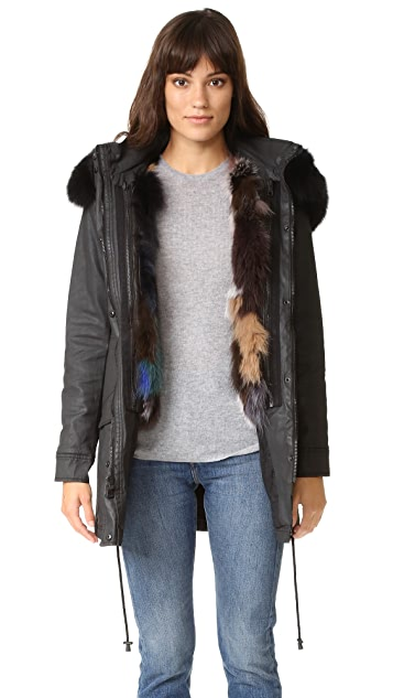alice + olivia Tandy Oversized Fur Parka