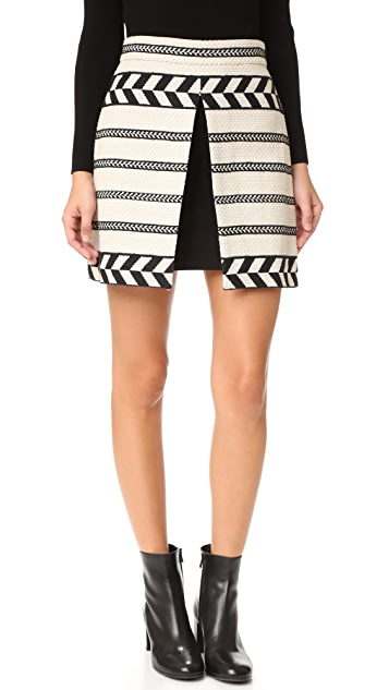 alice + olivia Daysi Mini Front Slit Skirt
