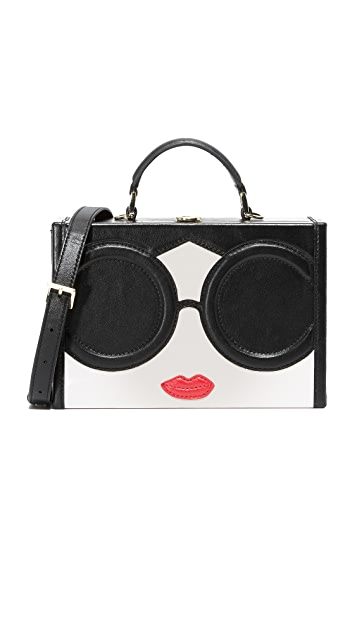 alice + olivia Сумка в форме ларца Stace Face