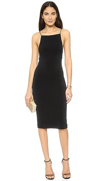 alice + olivia AIR Kia Side Strap Mid Length Dress