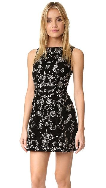 alice + olivia Lindsey Velvet Pouf Dress