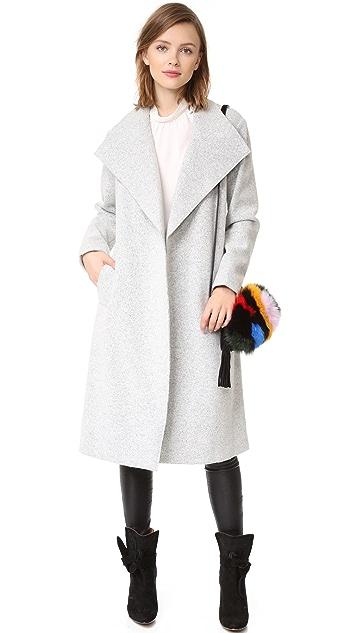 alice + olivia Zola Shawl Collar Trench Coat