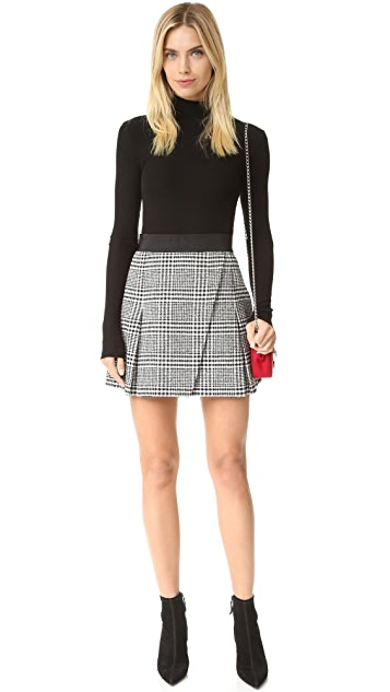 alice + olivia Cindie Pleated Miniskirt