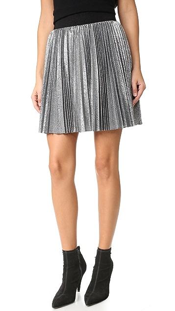 alice + olivia Danica Sunburst Pleated Miniskirt