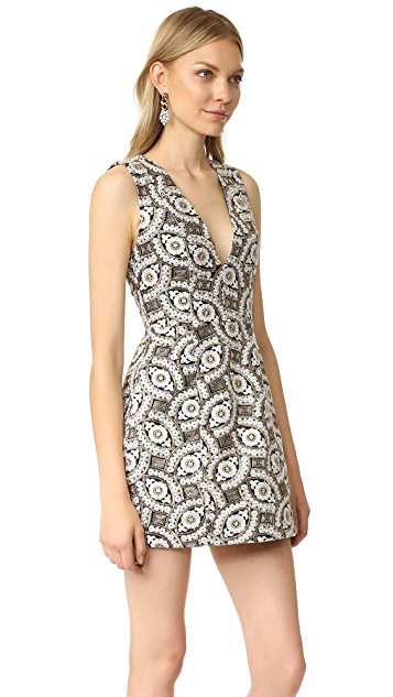 alice + olivia Pacey Embroidered Dress