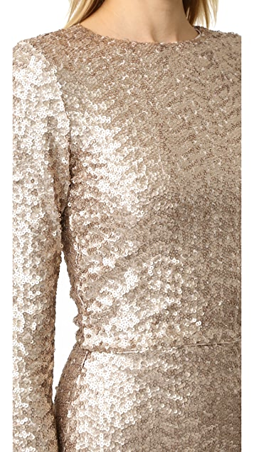 alice + olivia Lebell Sequin Crop Top