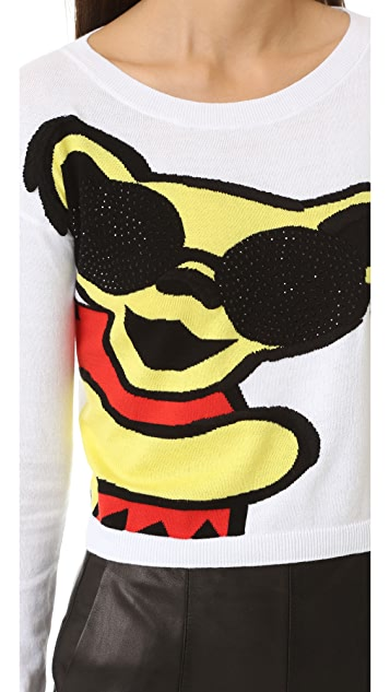 alice + olivia Grateful Dead Bear Cropped Sweater