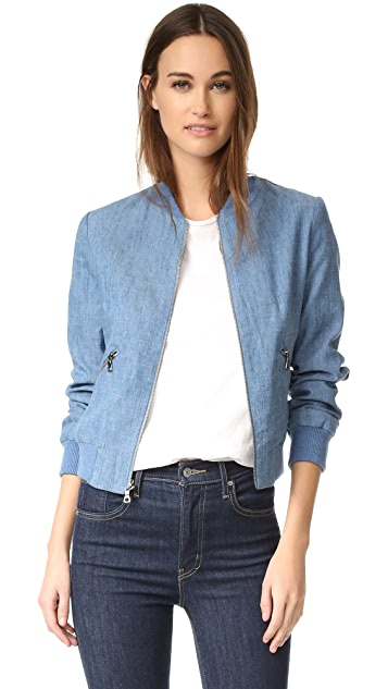 alice + olivia Lonnie Bomber Jacket