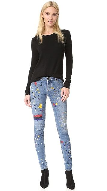 alice + olivia Joana Splatter Paint Skinny Jeans