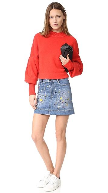 alice + olivia Paint Splatter Miniskirt