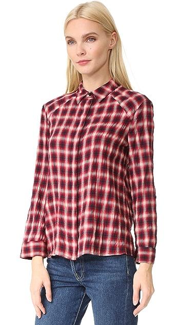 alice + olivia Glenna Roll Cuff Shirt
