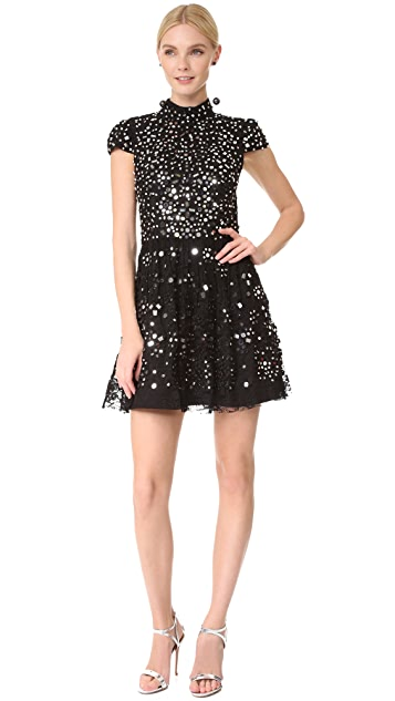 alice + olivia Maureen Embroidered Party Dress