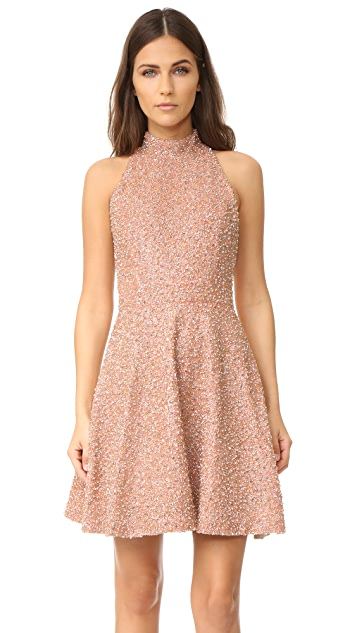 alice + olivia Shila Embroidered Racer Back Dress
