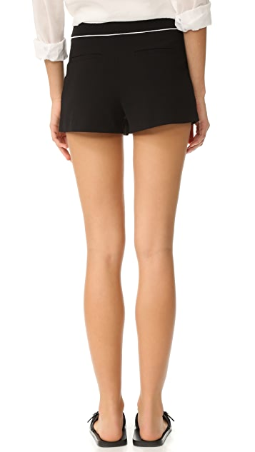 alice + olivia Rosette Patch Pocket Shorts