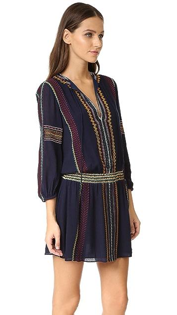 alice + olivia Jolene Embroidered Drop Waist Dress