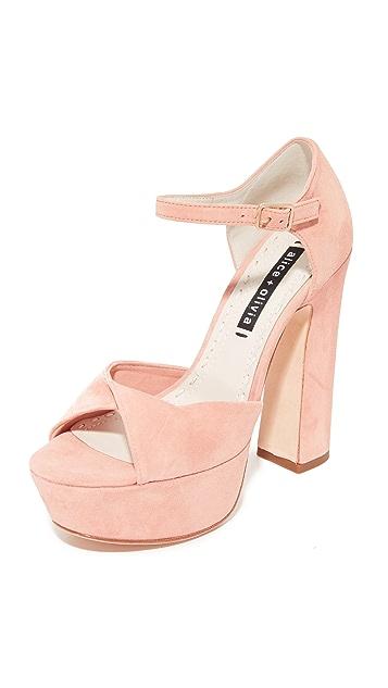 25a482c6a68d alice + olivia Layla Platform Sandals