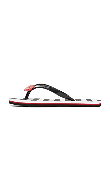 alice + olivia Carly Lips Flip Flops