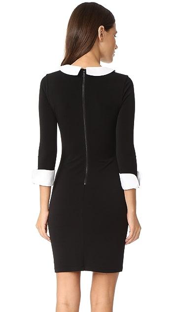 alice + olivia Vesta 3/4 Sleeve Collared Dress