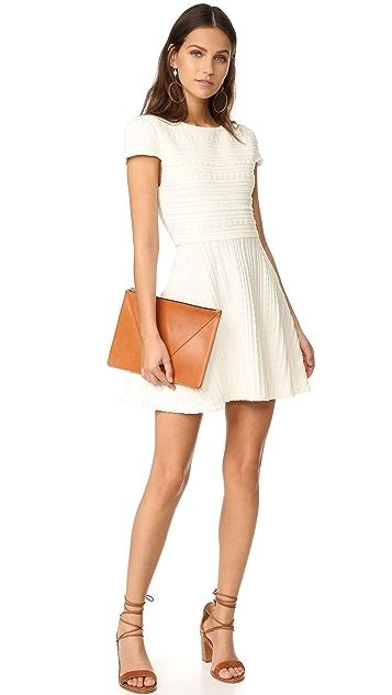 alice + olivia Shane Cap Sleeve A-Line Dress