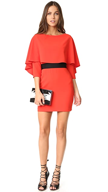 alice + olivia Cairo 3/4 Sleeve Boat Neck Dress
