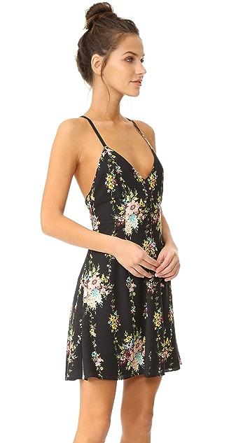 alice + olivia Alves Cross Back Flare Dress