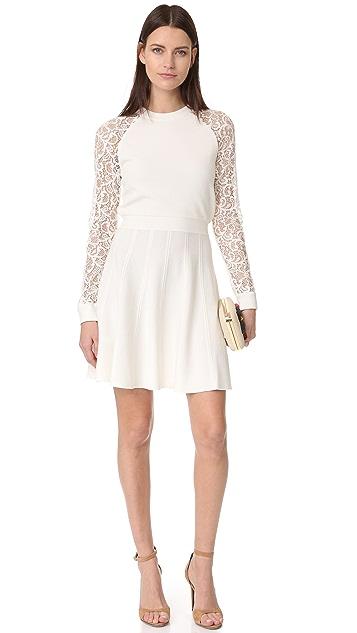 alice + olivia Blake Lace Raglan Sleeve Dress