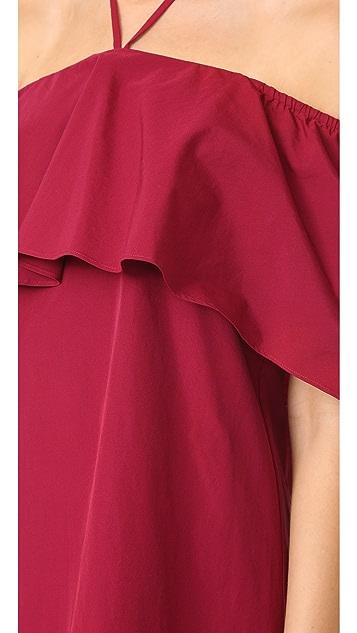 alice + olivia Jade Caped Dress