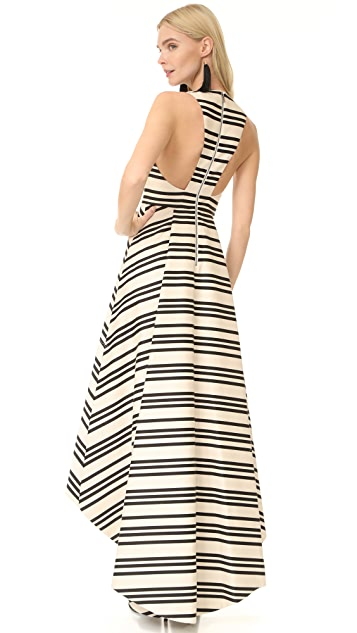 alice + olivia Aveena High Low Gown