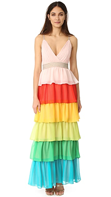 Alice Olivia Luba Tiered Gown Shopbop