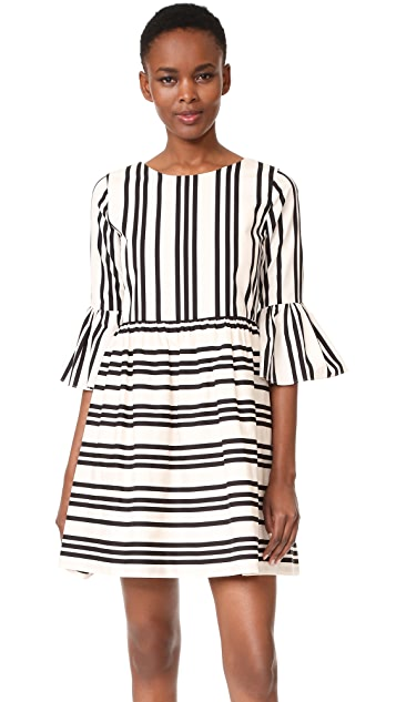 alice + olivia Augusta Ruffle Sleeve Dress