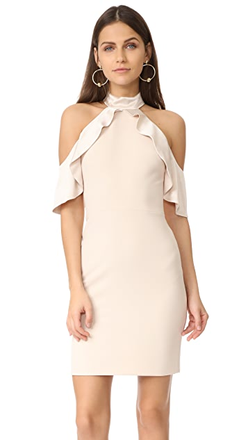 alice + olivia Ebony Cold Shoulder Dress
