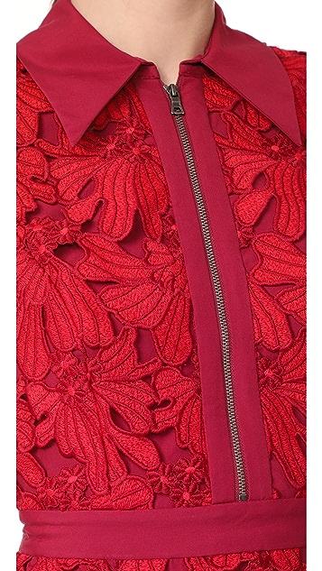 alice + olivia Ellis Zip Front Dress