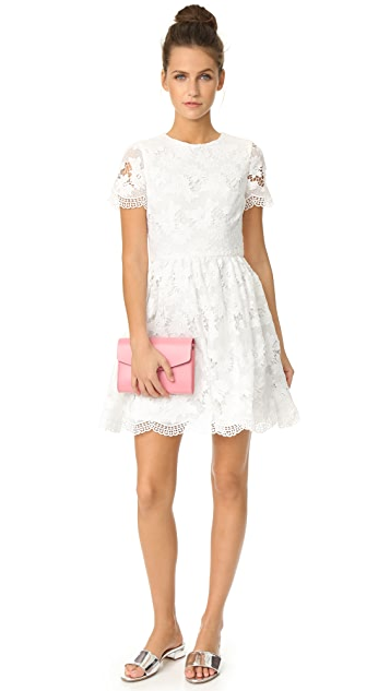 alice + olivia Karen Crew Neck Party Dress