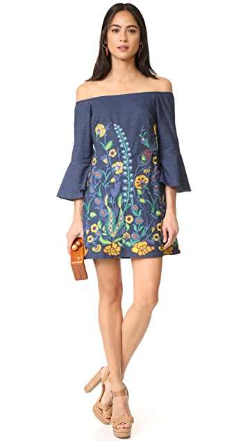 alice + olivia Kyra Flare Sleeve Tunic Dress