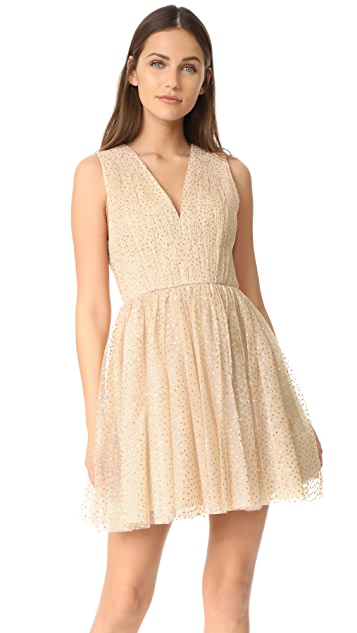 alice + olivia Monica Gathered Party Dress