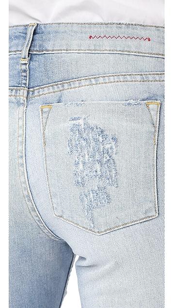 alice + olivia Tommy Boyfriend Distressed Jeans