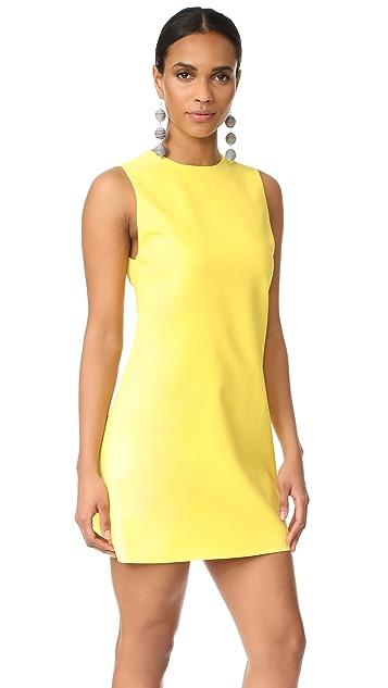 alice + olivia Coley Crew Neck A-Line Dress