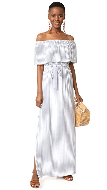 alice + olivia Grazi Off the Shoulder Maxi Dress