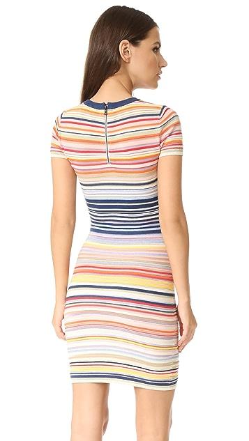 alice + olivia Hayden Striped Dress