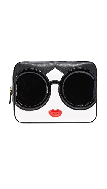 alice + olivia Stacey Face Large Cosmetic Case