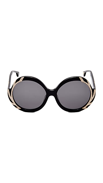 alice + olivia Stacey Crystal Sunglasses