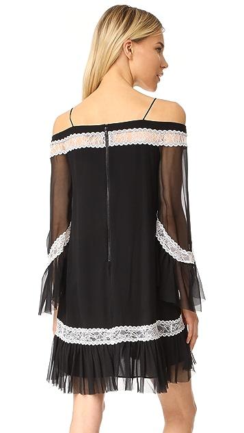 alice + olivia Willie Cold Shoulder Bell Sleeve Dress