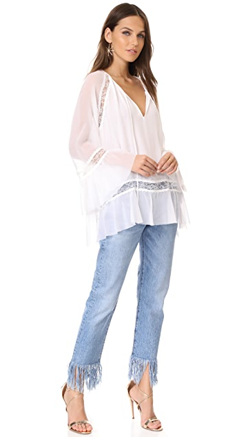 alice + olivia Luma Exaggerated Bell Sleeve Tunic