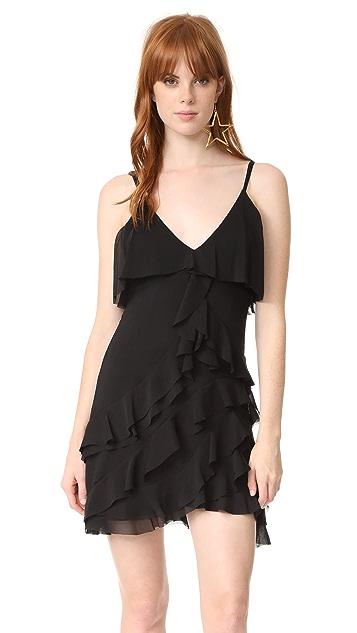 alice + olivia La Vinia Short Ruffle Dress