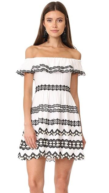alice + olivia Rozzi Off Shoulder Dress