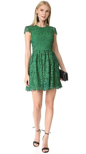 alice + olivia Corina Cap Sleeve Party Dress