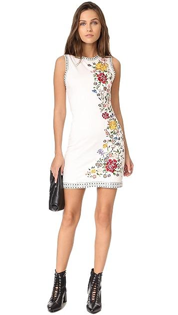 alice + olivia Nat Embroidered Dress