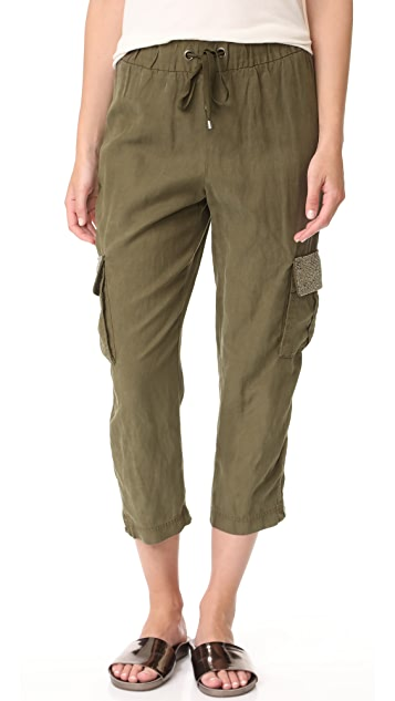 alice + olivia Anders Embellished Cargo Pants