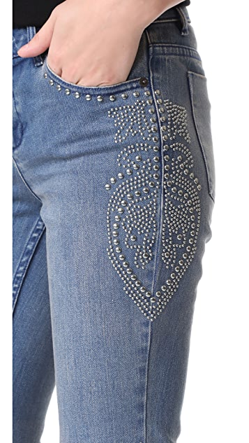 alice + olivia Ryley Studded Jeans
