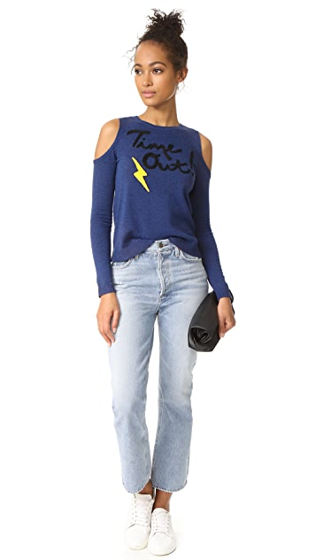 alice + olivia Wade Cold Shoulder Sweater